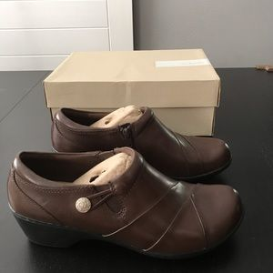 Dark Brown Clark's Work Shoes With Box